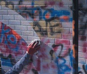 anti graffiti coating removes the graffiti in a second