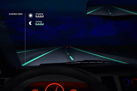 photoluminescent paint road