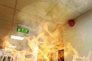 fire resistant paint preventing flames from spreading