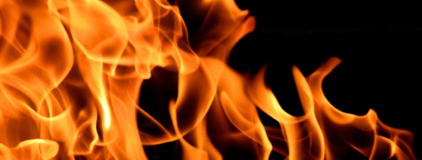 fire resistant paint damps flames