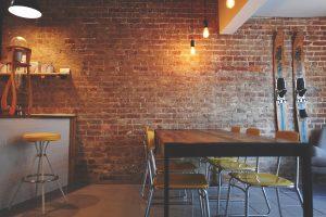 restaurant with hygiene coating for floor