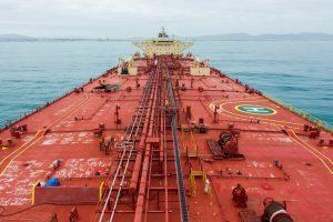 slip resistant marine paint applied on a cargo vessel deck