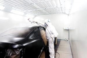 Applying aftermarket automotive coating is a specialised paint shop.