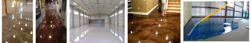 Samples of epoxy flooring