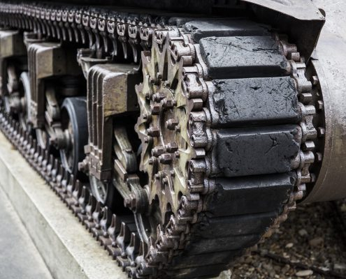 indestructible paint in a tank for military use