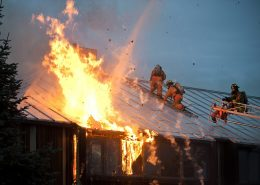 fireproof paint for steel slows down burning of the roof