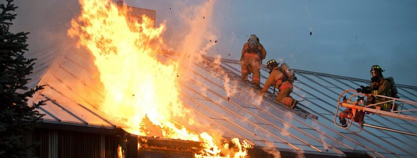 fire resistant coating for steel slows down burning of the roof