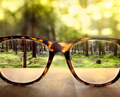 Anti reflective coating applied together with anti glare coating on glasses