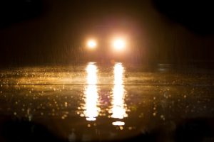 Anti reflective coating and anti glare coating prevent reflection from car lights