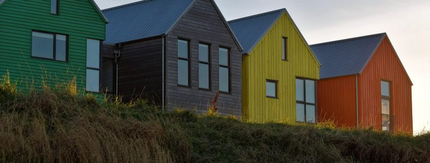 Wood coating applied on houses in canada