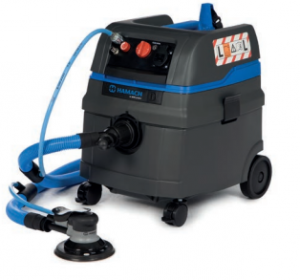 A mobile sanding system is a standard part of industrial coating equipment