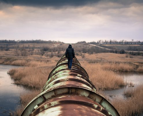 Pipeline coating for corrosion protection failed
