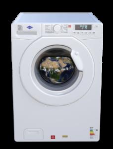 powder coating appliances done on a white washing machine