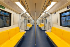 durable subway interiors with automotive powder coating
