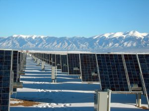 solar panels in northern canada with antifreeze solar panel coating