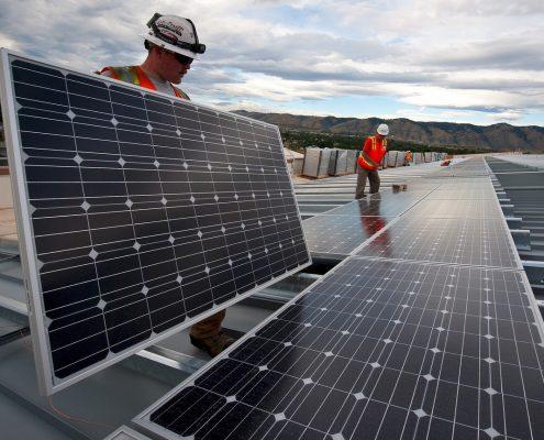 installing solar panels treated with solar panel coating