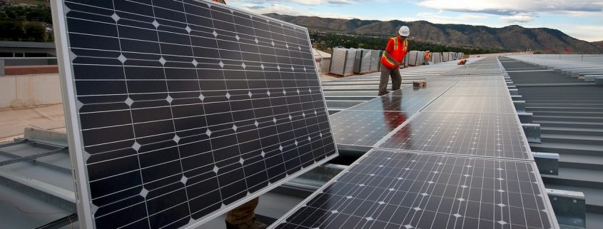 installing solar panels treated with solar panel coating