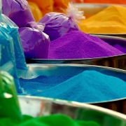 Powder coating powders comes in a range of colours and finishes.