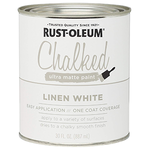 285140 Rust-Oleum Ultra Matte Interior Chalked Paint 30 oz, Linen White