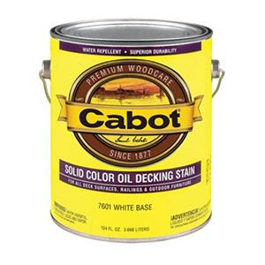 Cabot Oil Decking Stain 1 Gallon Satin White