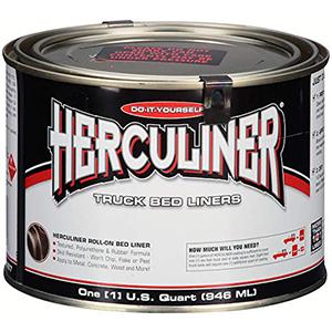 Herculiner HCL1B7 Brush-on Bed Liner - 1 Quart (32 Ounces) Black