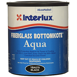Interlux Fiberglass Aqua Antifouling Paint Black, Quart