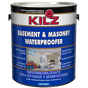 KILZ Basement and Masonry Waterproofer White 1 Gallon
