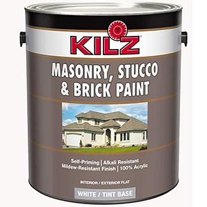 KILZ Masonry, Stucco and Brick Paint White 1 Gallon