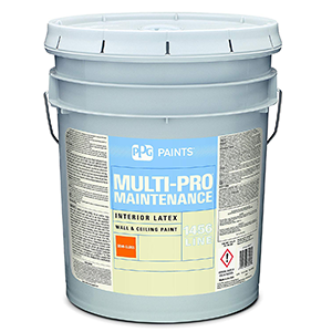 PPG Paints Latex Paint, White, Semi-Gloss, 5 gal, Multi-Pro Maintenance, Interior Paints for Rooms