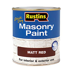 Rustins Quick Dry Masonry Paint Red 250ml