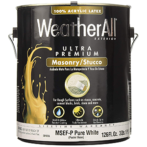True Value WeatherAll Exterior Stucco Paint White 1 Gallon