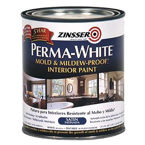 Zinsser Perma-White Mold & Mildew-Proof Interior Paint SATIN 1 Quart (31.5 fl oz)