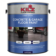 KILZ Epoxy Acrylic Concrete & Garage Floor Paint, Satin Slate Gray