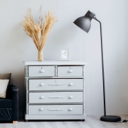 Milk paint provides a vintage charm for your furniture