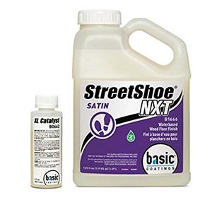 Basic Coatings Streetshoe Waterbased Wood Floor Finish Satin 1 Gallon