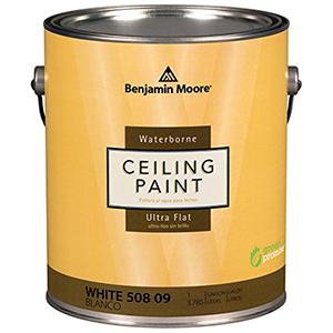 Benjamin Moore Waterborne Ceiling Paint Ultra Flat White 1 Gallon