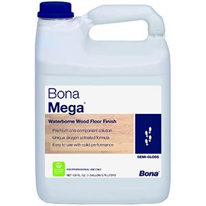 Bona Mega Waterborne Wood Floor Finish Semi-Gloss,1 Gallon