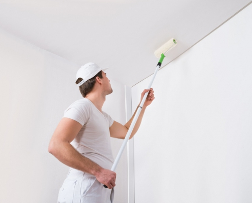 How to paint a ceiling witout roller marks