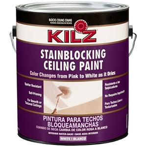 Kilz Stainblocking Ceiling Paint Colour Change White 1 Gallon