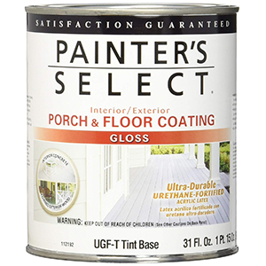 Painter's Select Interior-Exterior Urethane-fortified Porch and Floor Coating, Gloss 1 Quart