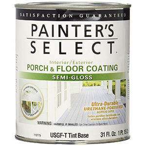 Painter's Select Interior-Exterior Urethane-fortified Porch and Floor Coating Semi-Gloss 1 Quart