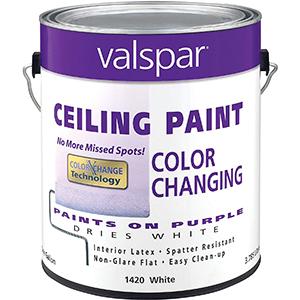 Valspar Ceiling Paint Color Changing interior latex White 1 Gallon