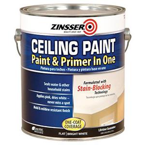 Zinsser Ceiling Paint Bright White Flat 1 Gallon