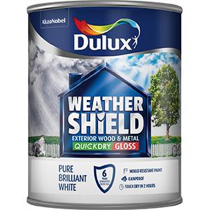 Dulux Weathershield Exterior Gloss Pure Brilliant White 750ml