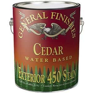 General Finishes Cedar Water Based Exterior 450 Stain 1 Gallon