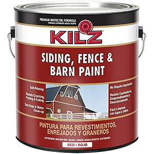 KILZ Siding, Fence & Barn Paint Red 1 Gallon