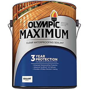 Olympic Stain Maximum Waterproofing Sealant, 1 Quart, Clear