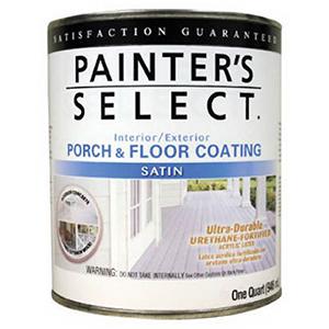Painter's Select Interior-Exterior Porch & Floor Coating, Satin Medium Grey 1 Quart