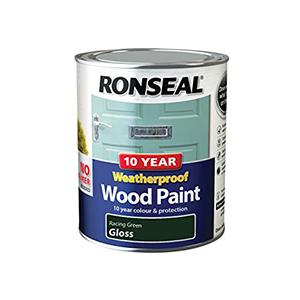 Ronseal Weatherproof Wood Paint Racing Green Gloss 750ml