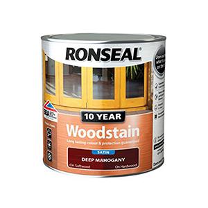 Ronseal Woodstain Deep Mahogany Satin 750ml